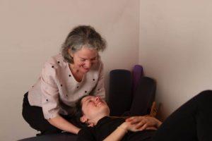 Donna Deland giving Feldenkrais Lesson